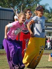 Sunday Funday includes a sack race at Vineyards Community Park, 6231 Arbor Blvd., Naples.
