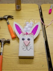 Visitors to Andercraft Woods in Mishicot had the opportunity to make their own bunny crafts during the village's second annual Winterfest.