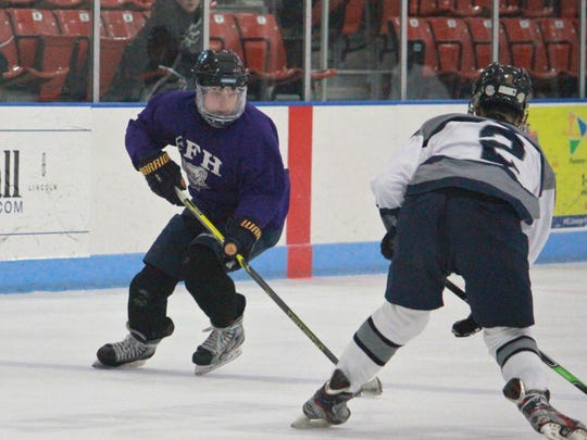 Brendan Ban of Rumson-Fair Haven makes a move against Middletown South.