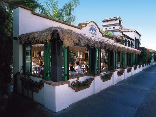 The outdoor terrace is a dining option for customers at Las Casuelas Terraza in downtown Palm Springs.