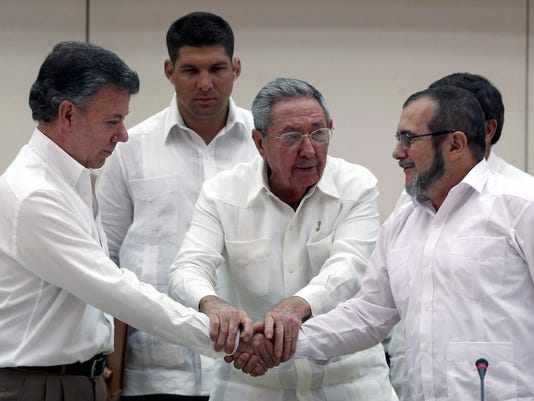 Castro Colombia Peace Deal