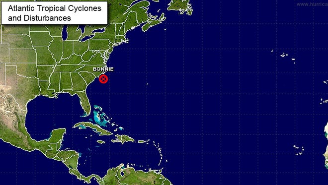 A map of tropical disturbances  in the Atlantic as of June 1.