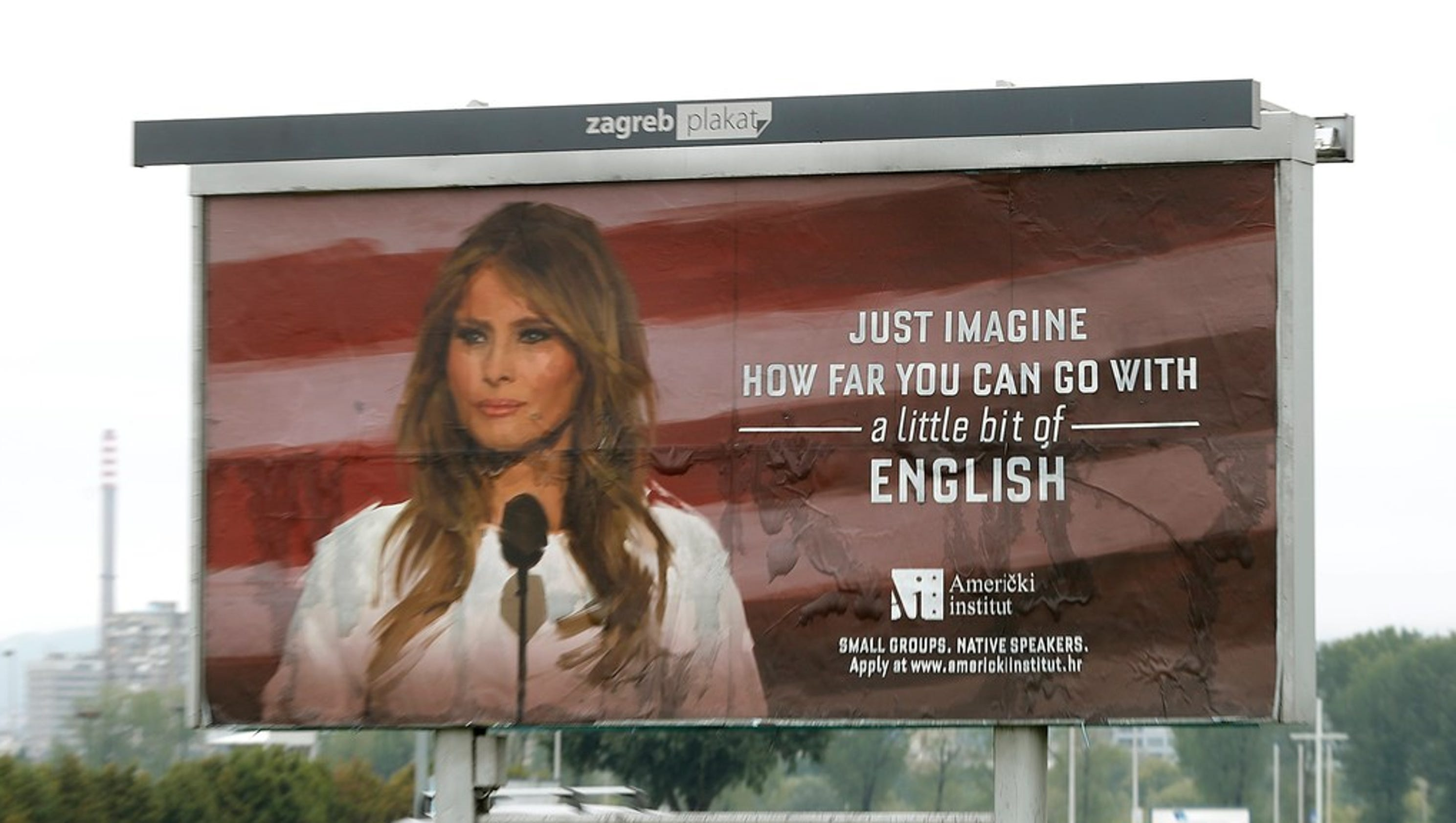 Melania Trump billboard removed in Croatia after legal action threatened