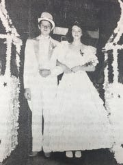 Joe Tate and Kristi Overfield were crowned King and Queen during the eighth grade prom in May 1987.