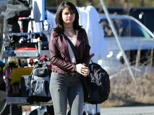 Selena Gomez on set in Atlanta