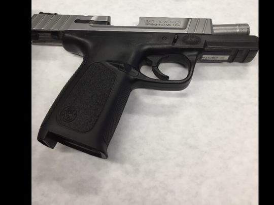 Stolen handgun found by Oxnard police.