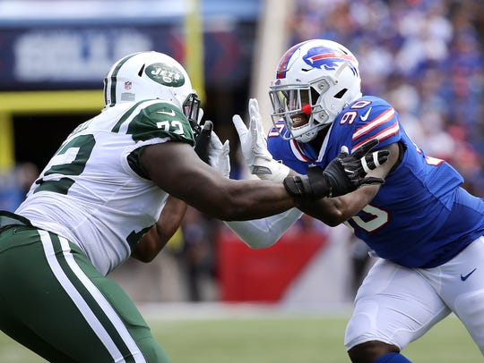 Bills defensive end Shaq Lawson may have to battle for a roster spot.