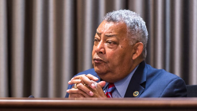 Buncombe County Commissioner Al Whitesides denounced the beating of Johnnie Rush, a black man who was beaten by an Asheville police officer after being stopped on accusations of jaywalking and trespassing.