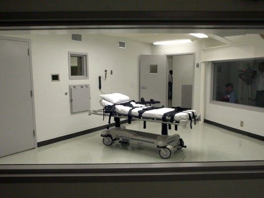 This file photo shows Alabama's  lethal injection chamber