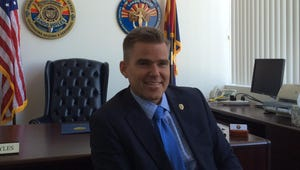 Lando Voyles, Pinal County attorney, in his office in August 2015.