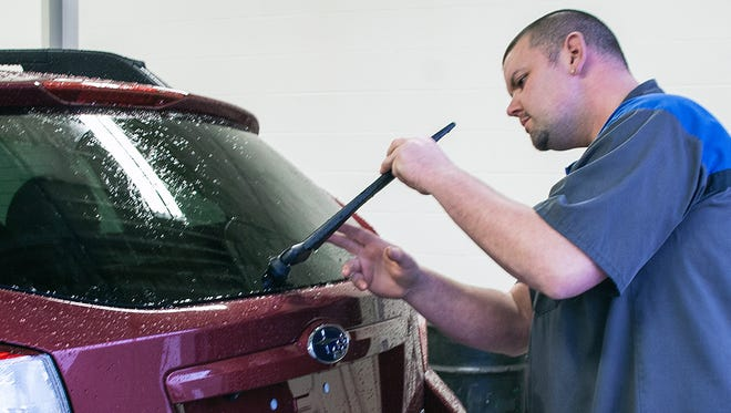 Make sure your wipers are prepared for the winter weather.