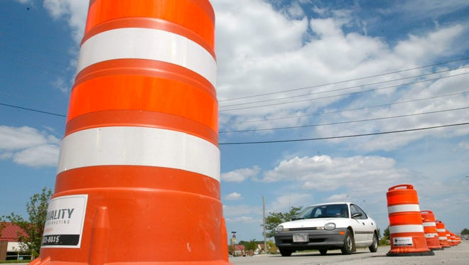 Road work will close the westbound lanes of Highway 16 at Sawyer Road this weekend.