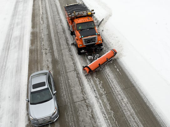 Snowplows from the Minnesota Department of Transportation