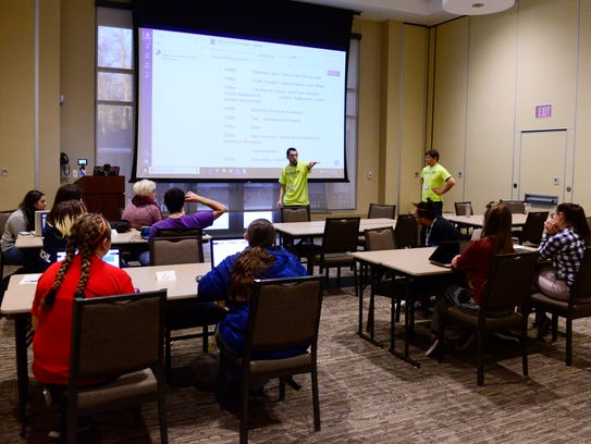 Students gather for a weekend of coding at the Back-to-School