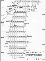 Lake Michigan commercial fishing zones. Zone 3 covers