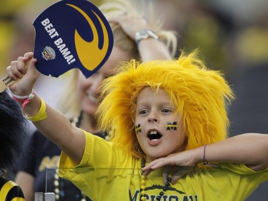 A young Michigan football fan.