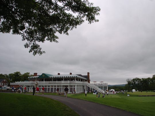 The clubhouse at Trump National Golf Club  in Bedminster,