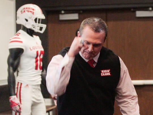 UL coach Mark Hudspeth says the Cajuns explain to recruits