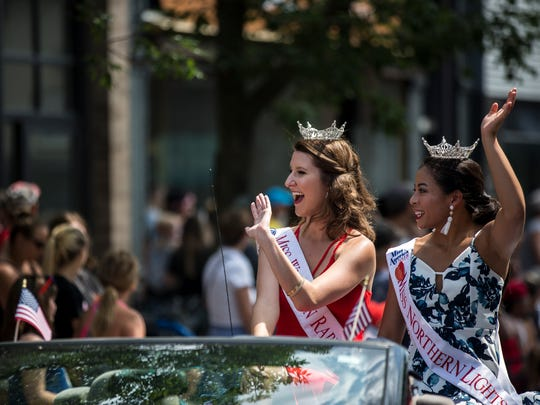 Miss Wisconsin Rapids Area Hannah Ashbeck, left, and