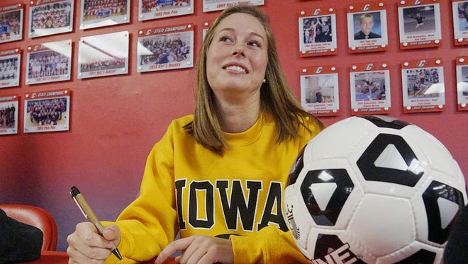 Soccer player Natalie Winters has signed with Iowa.