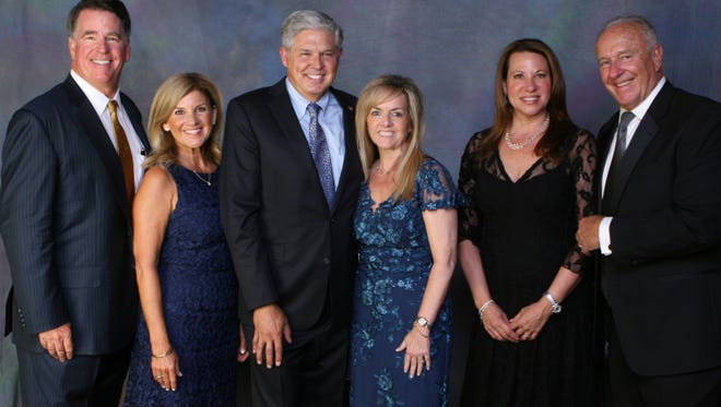 Participants in the YMCA's Golden Circle gala were Matt and Linda Johnson; Gary and Amy Jeandron; and Tracey and Rob Ballew.