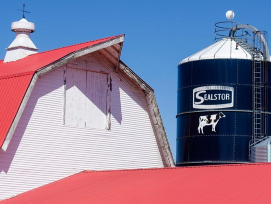 The iconic red-roofed barn at Nordic Farms in Charlotte