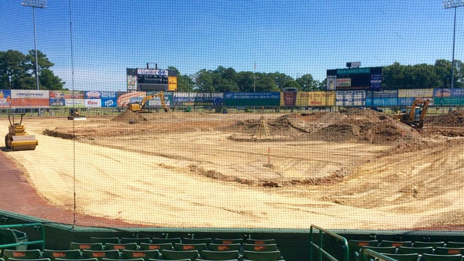 The playing field is the first of many upgrades coming to Arthur W. Perdue Stadium.