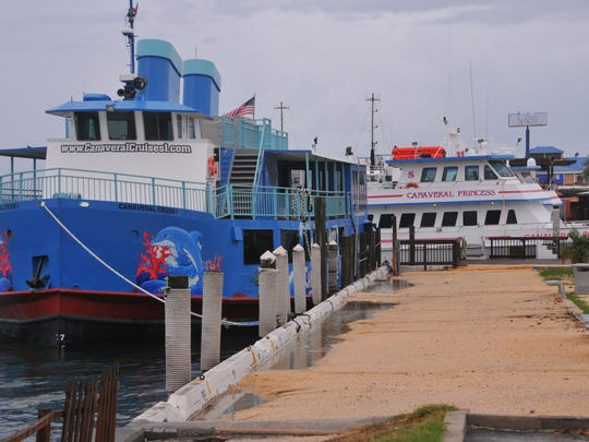 Charter fishing boats are docked in Port Canaveral's Cove area. Port Canaveral's proposed master plan includes a new commercial fishing fleet yard and fish market area southwest of the existing Cove restaurants.