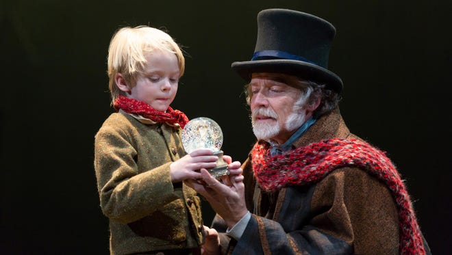 "Liam McKernan (left) and Greg Wood in ""A Christmas Carol."""
