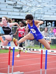 Competing in the 100 hurdles Friday is Salem's Brianna Essien.