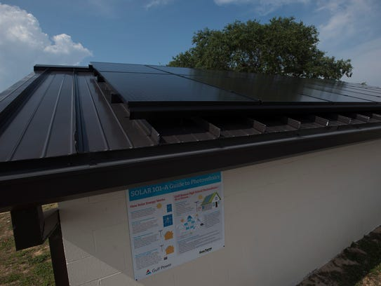 Gulf Breeze High School now has 16 new solar panels to help supply power to the school.