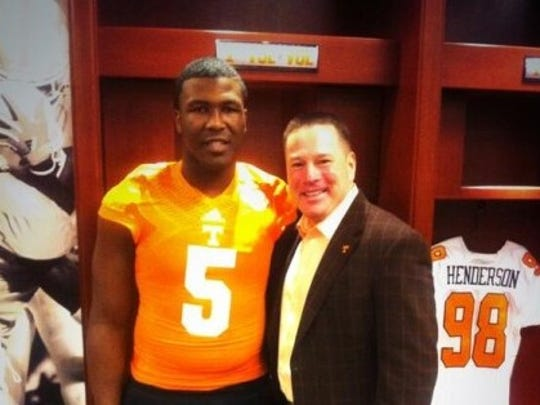 Haywood defensive lineman Emmit Gooden posed with Tennessee