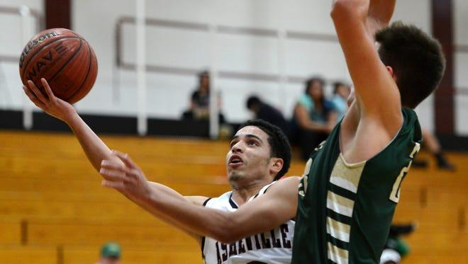 Damon Scott (3) leads the Asheville High boys basketball team in scoring.