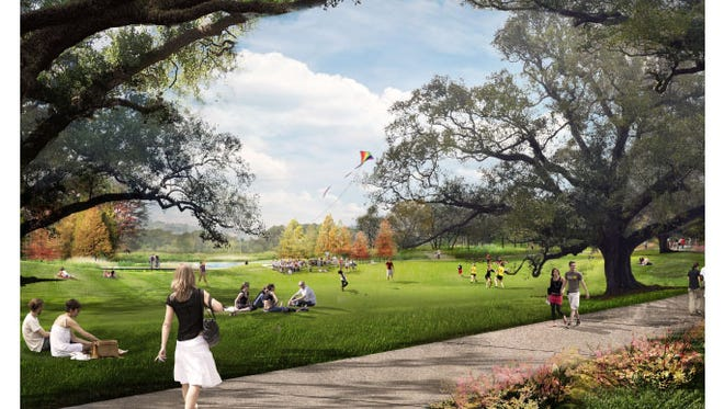 Artist's rendering of a scene from the former UL horse farm.