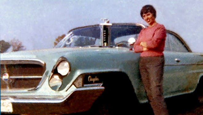 Anne Armstrong in an undated photo with her Bermuda turquoise 1962 Chrysler 300 Sport. It is one of 1,100 made and it now belongs to her daughter Denielle Armstrong.