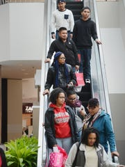 Shoppers at Willowbrook Mall in Wayne on Black Friday, 2015.