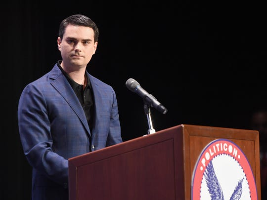 Ben Shapiro speaks in July at the Pasadena Convention Center.