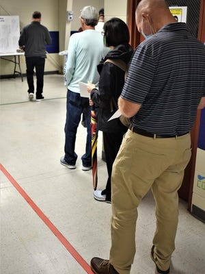 Lines were the norm this week as early voting started in Bryan County.