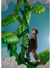 For Balloon Manor 2014, Airigami created the theme The Very Tall Tale of Jack and his Beanstalk. This photo is from an Airigami  2011 Jack and the Beanstalk sculpture.