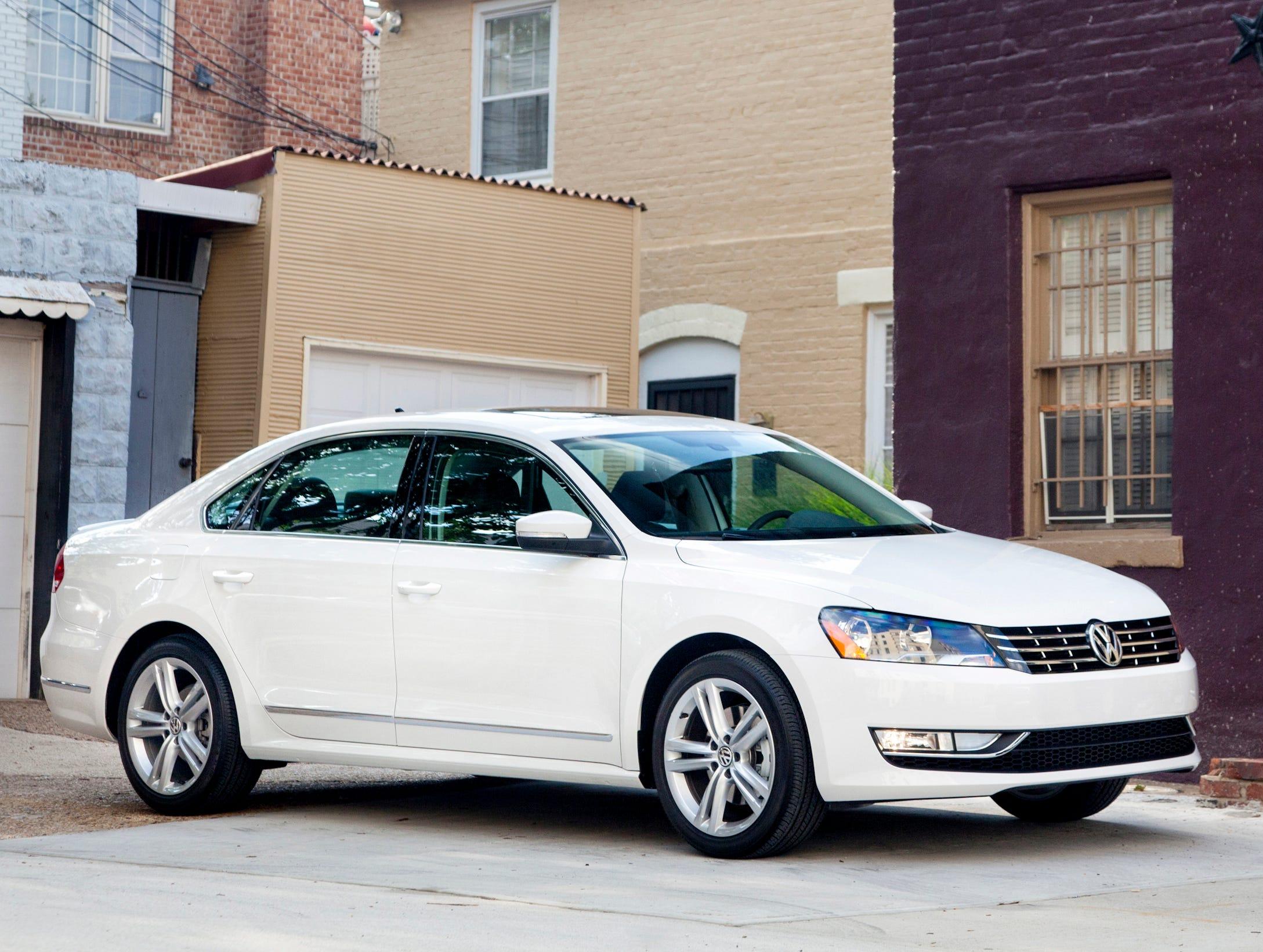 This year's Edmunds.com Top 10 Best Cars for Short Drivers includes the Volkswagen Passat sedan, starting at $21,640 (SEL diesel model shown here).
