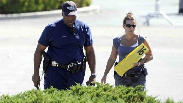 A scene from the shootings in Carson City on Tuesday, Sept. 6, 2011. /