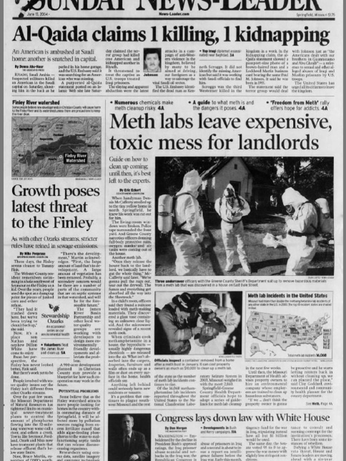 A 2004 News-Leader front page, featuring a story detailing