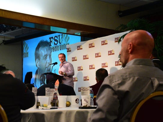 Florida State football head coach Jimbo Fisher speaks