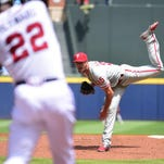 Phillies starter Cole Hamels (8-6) threw 108 pitches over six innings. The Phillies' two previous no-hitters were pitched by Roy Halladay.