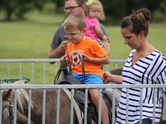 The pony rides were a hit with kids at Lawrence Orchards' Applefest.