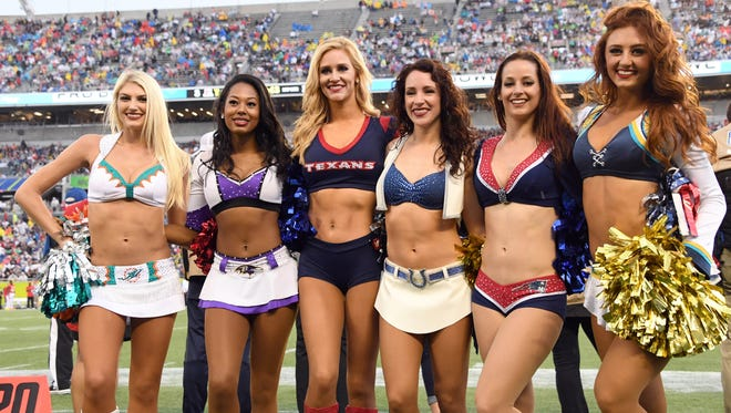 Cheerleaders from several teams appeared at the Pro Bowl in January.