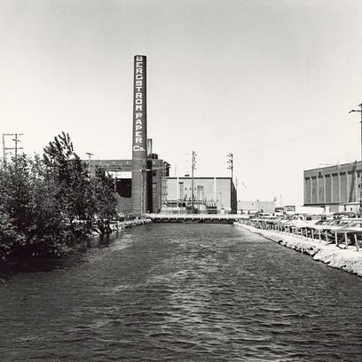 The Bergstrom Paper Company was located on 225 W. Wisconsin