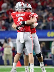 Ohio State defensive ends Sam Hubbard and Nick Bosa