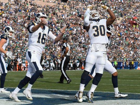 USP NFL: PHILADELPHIA EAGLES AT LOS ANGELES RAMS S FBN LAR PHI USA CA