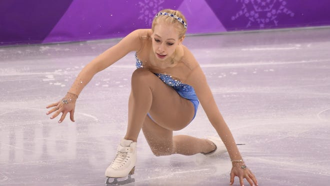 Bradie Tennell (USA) competes in the women's free skate program.
